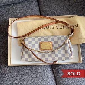 Authentic Louis Vuitton Damier Azur Eva Crossbody